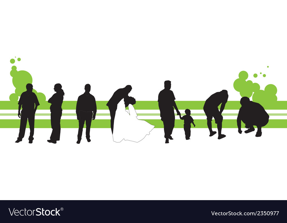 Silhouettes of the people vector | Price: 1 Credit (USD $1)