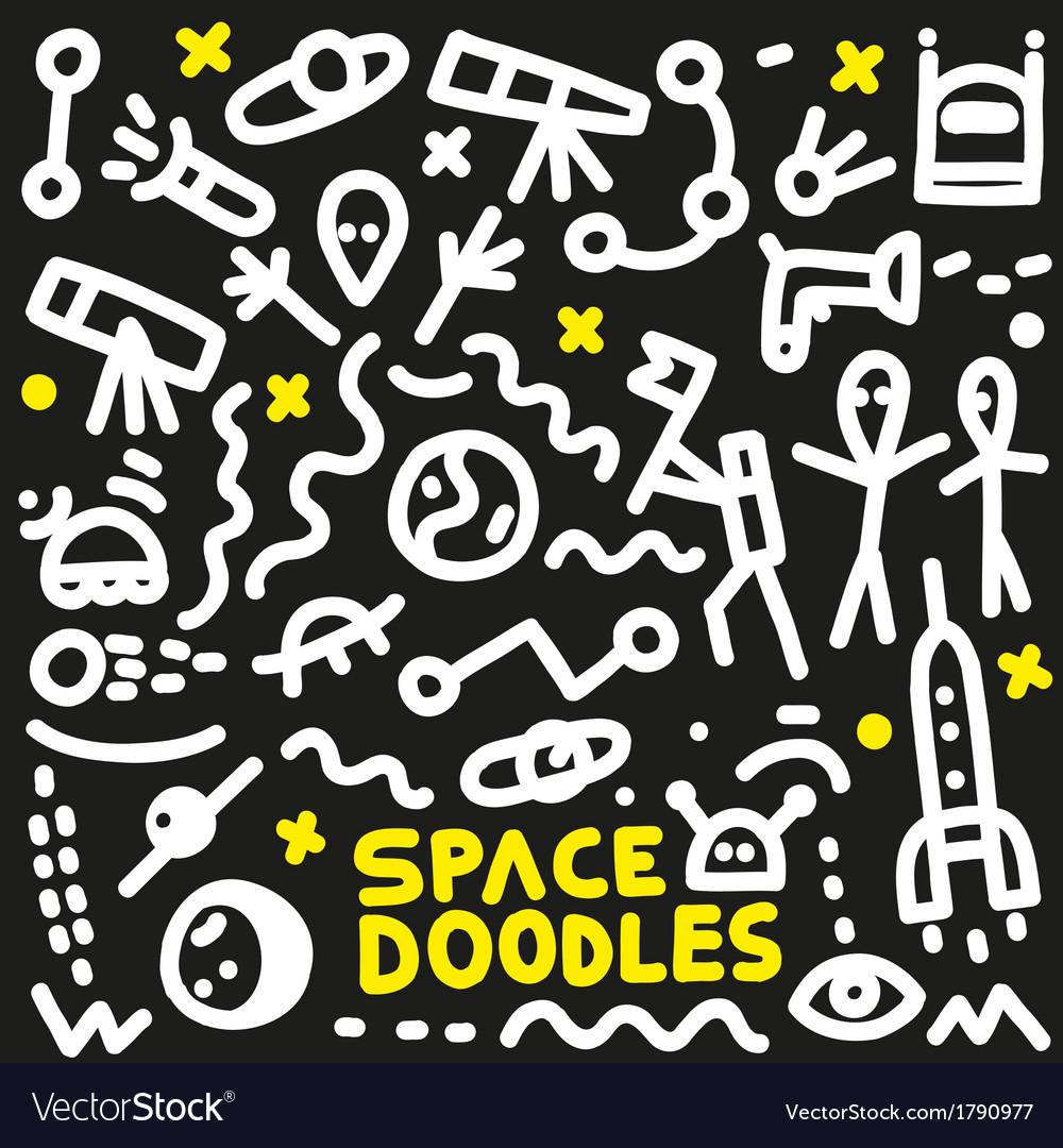 Space - doodles set vector | Price: 1 Credit (USD $1)