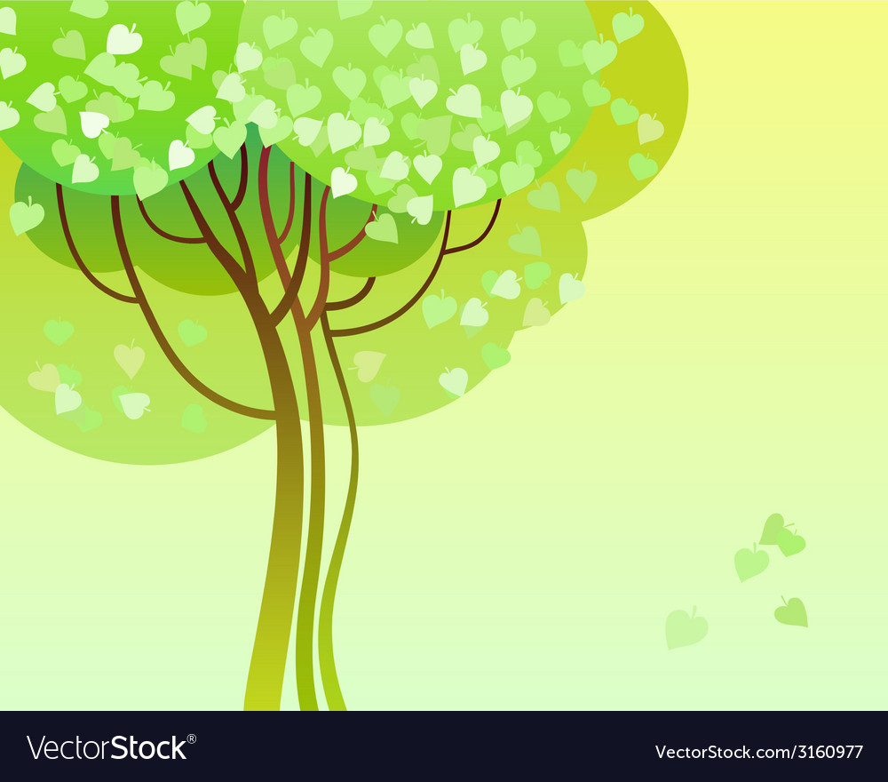 Trees in bloom vector | Price: 1 Credit (USD $1)