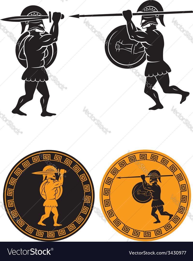 Two gladiators vector | Price: 1 Credit (USD $1)