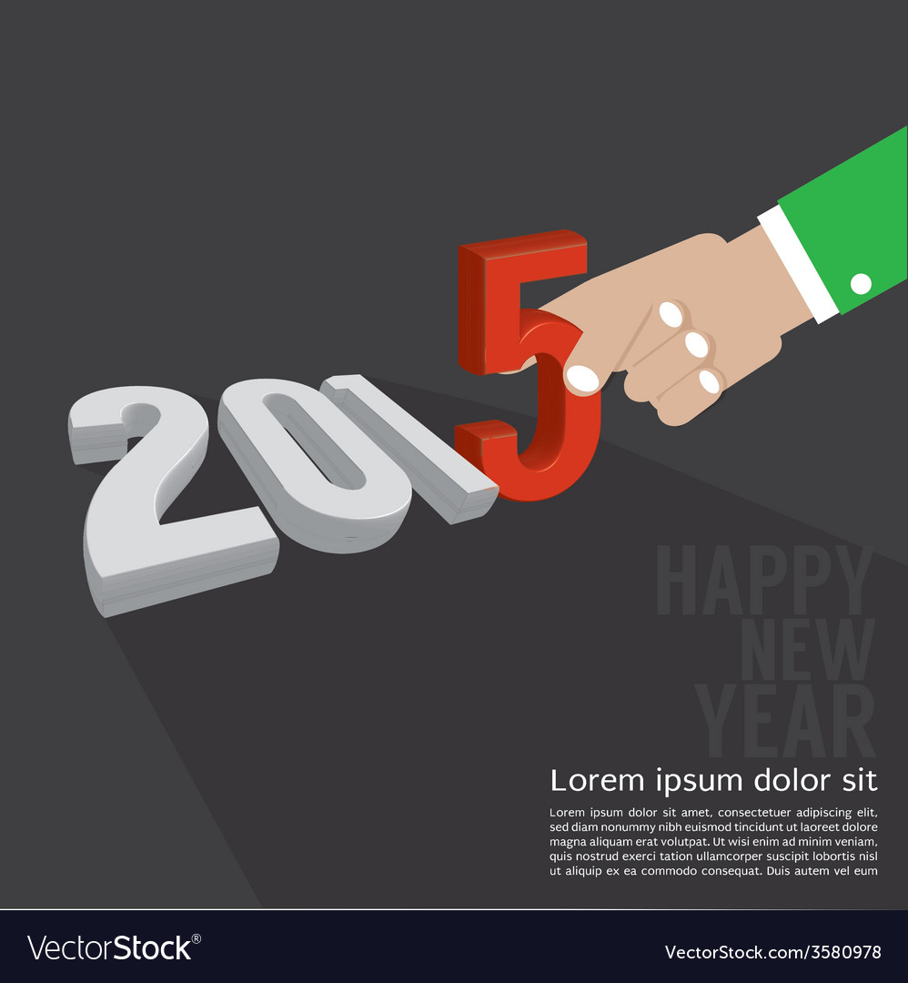 2015 greeting card design vector | Price: 1 Credit (USD $1)