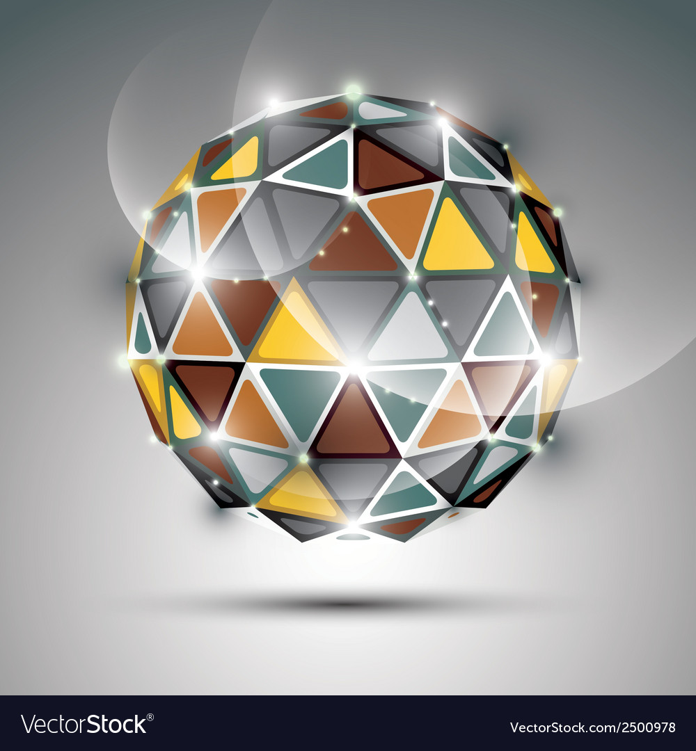 Abstract 3d vivid gala sphere with gemstone effect vector | Price: 1 Credit (USD $1)