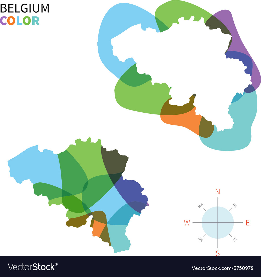 Abstract color map of belgium vector | Price: 1 Credit (USD $1)