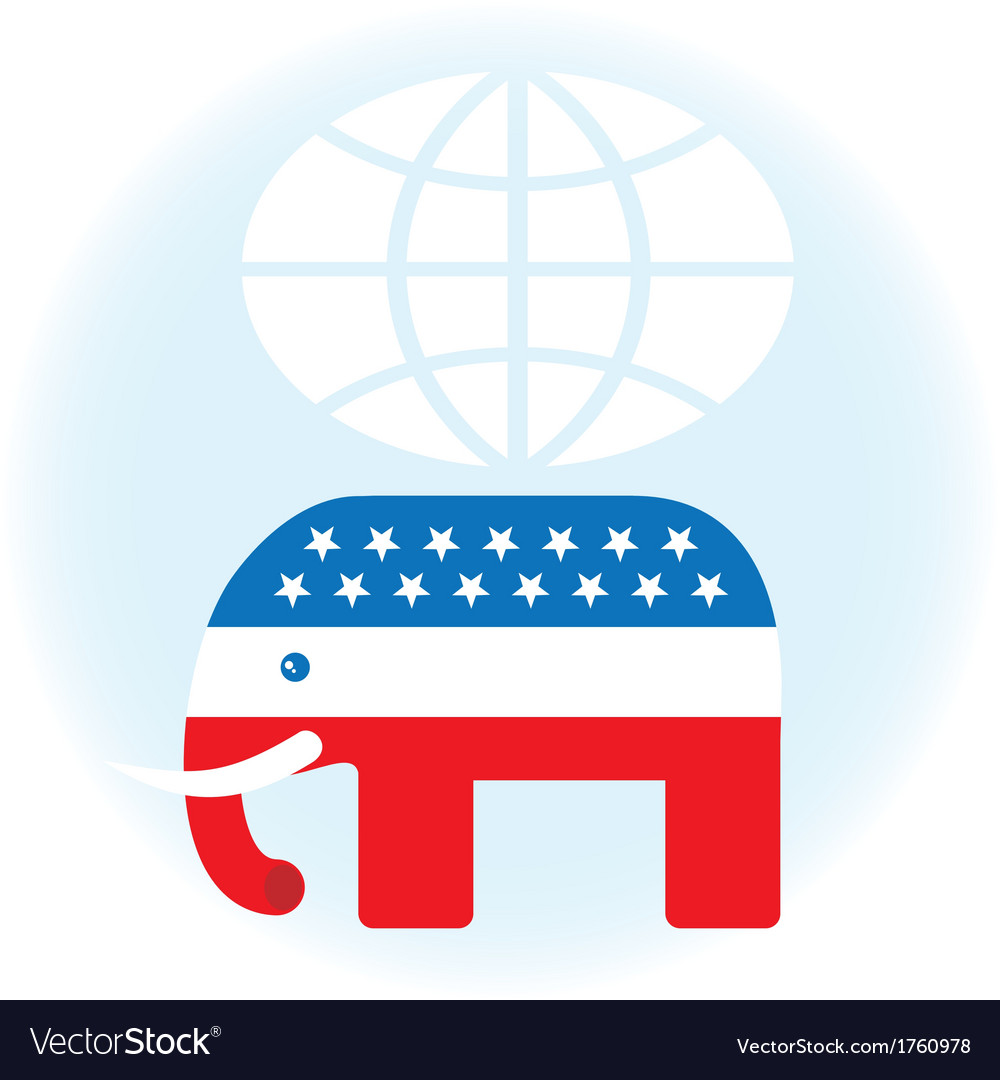 American republican symbol vector | Price: 1 Credit (USD $1)