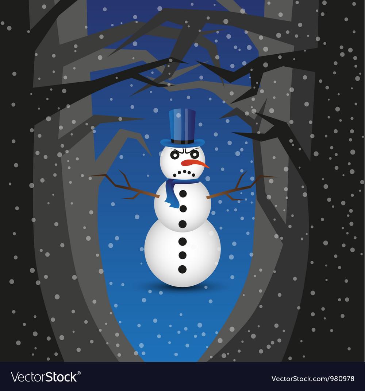Bad snowman vector | Price: 1 Credit (USD $1)