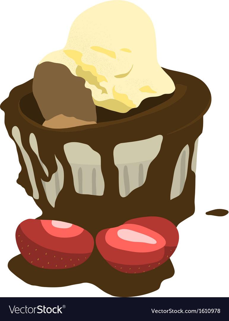 Chocolate mud cake vector | Price: 1 Credit (USD $1)