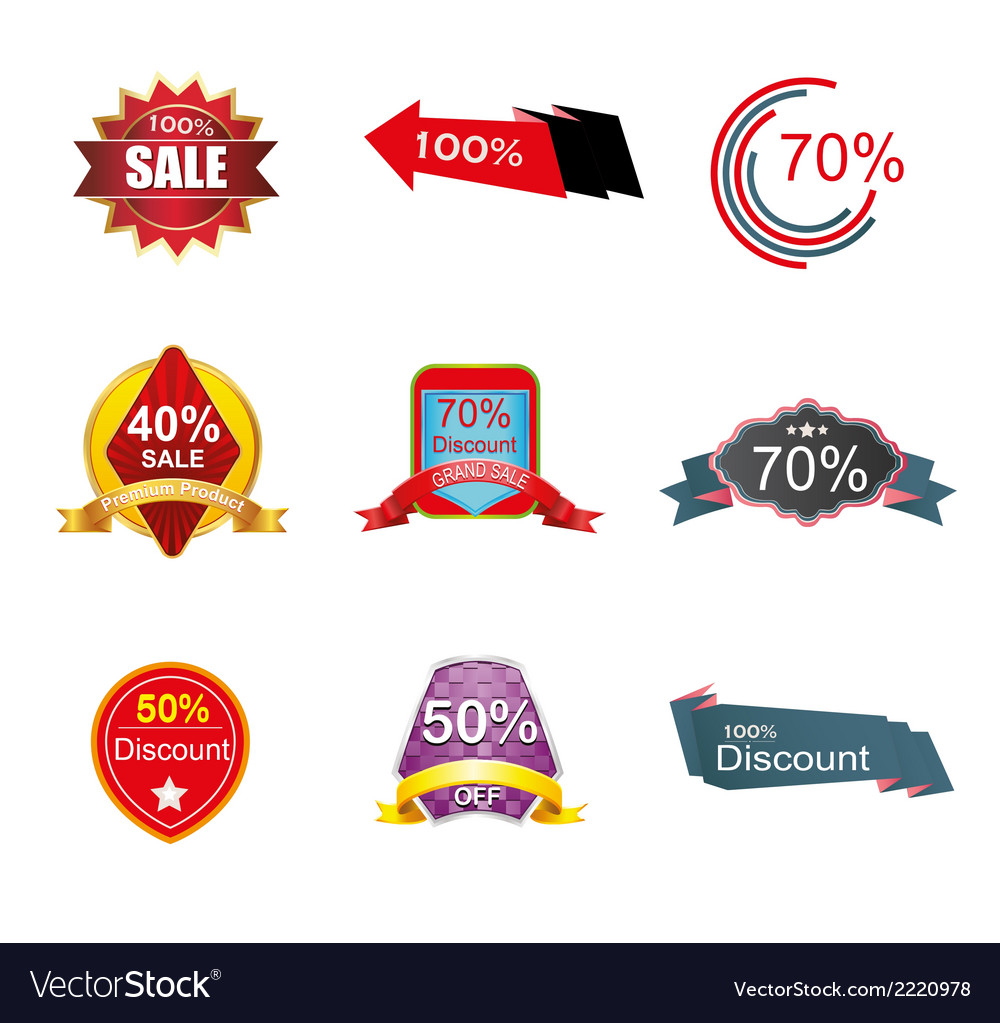 Discount label tag symbol vector | Price: 1 Credit (USD $1)