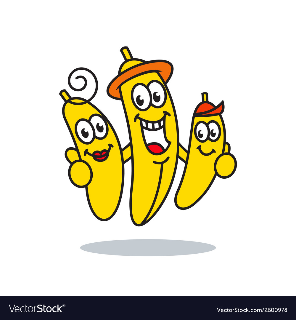 Family bananas sign vector | Price: 1 Credit (USD $1)