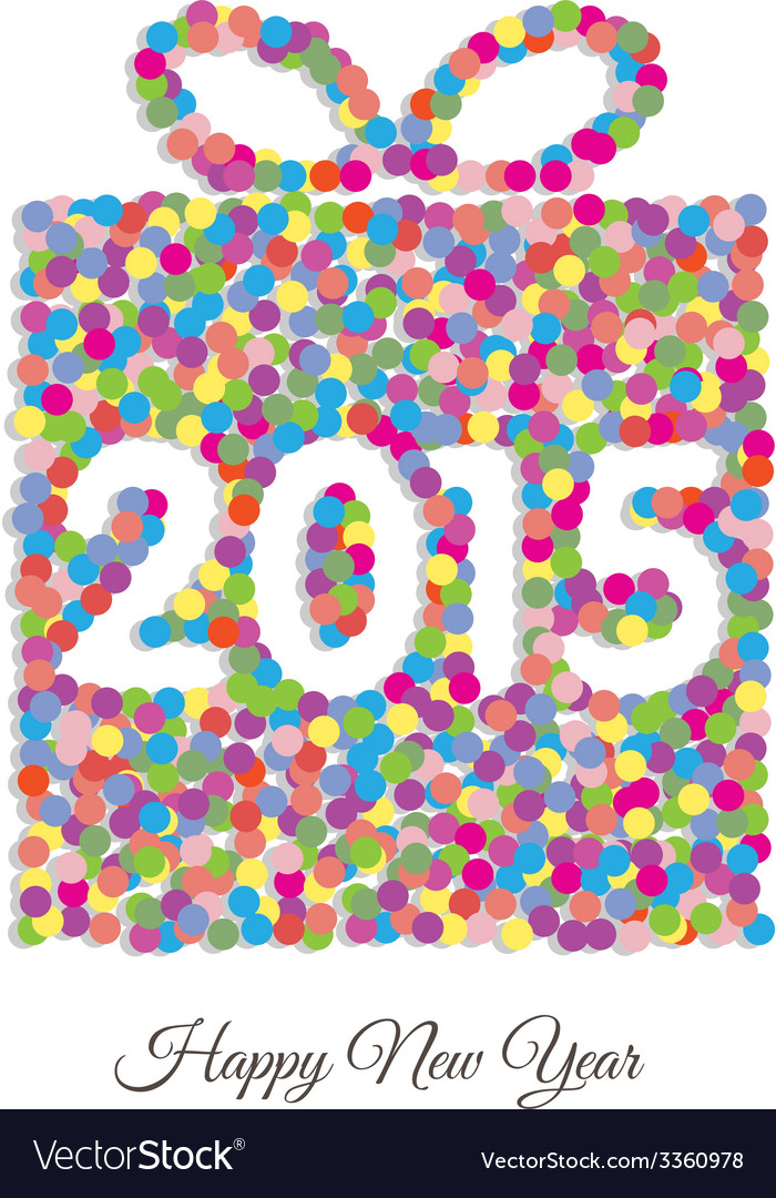 Happy new year 2015 gift vector | Price: 1 Credit (USD $1)