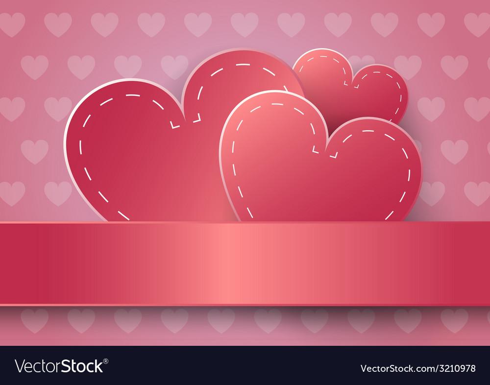 Heart paper sticker vector   Price: 1 Credit (USD $1)