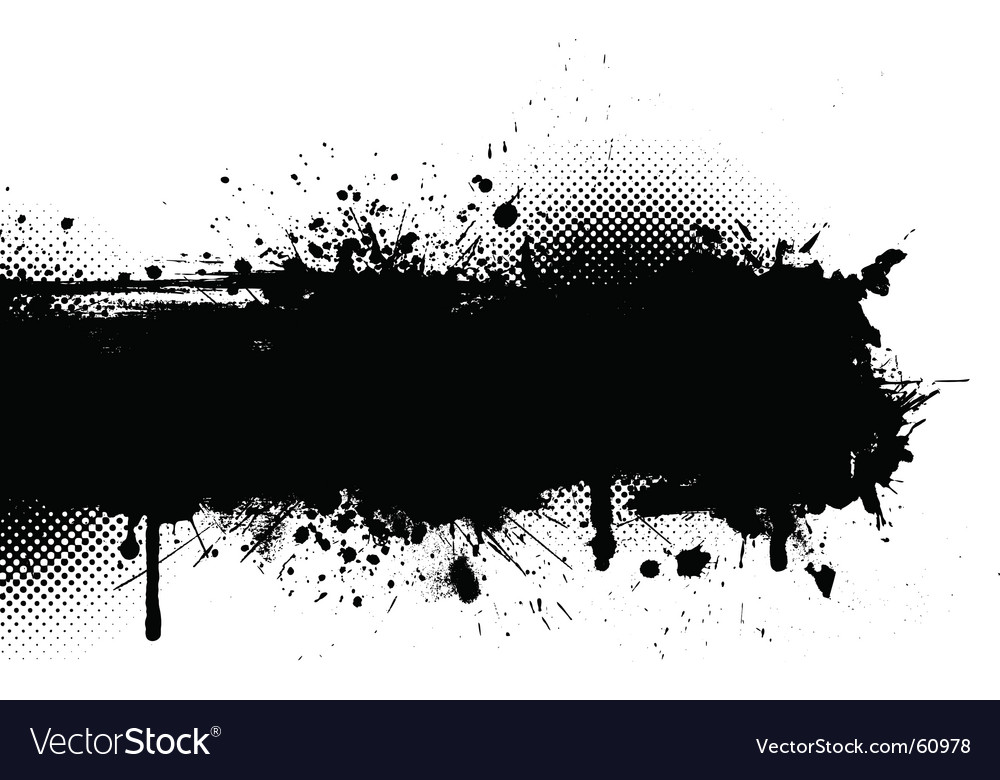 Ink splat grunge vector | Price: 1 Credit (USD $1)