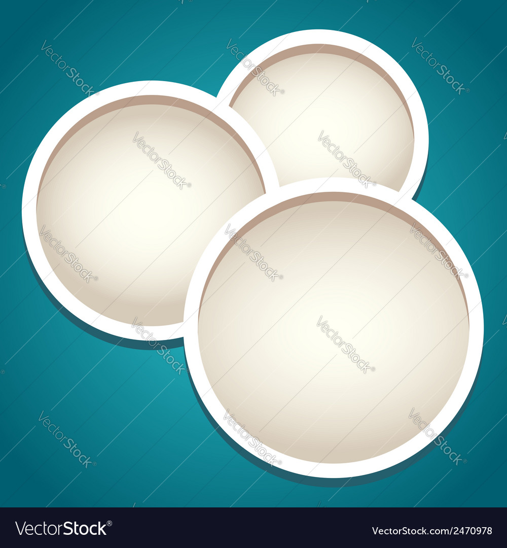 Modern round frames in paper cut style vector | Price: 1 Credit (USD $1)