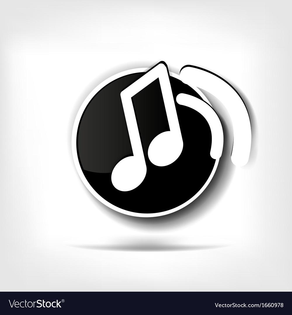 Music web icon vector   Price: 1 Credit (USD $1)