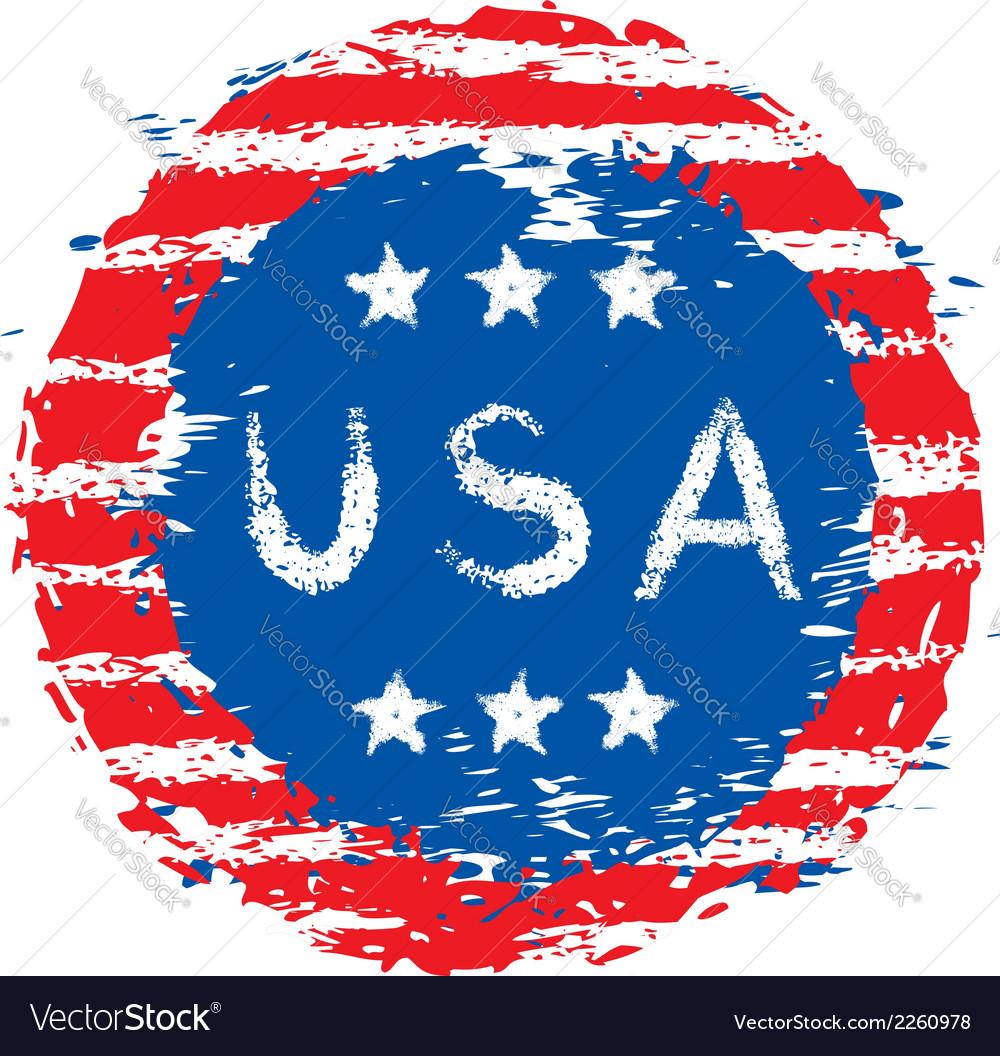 Usa flag vector   Price: 1 Credit (USD $1)