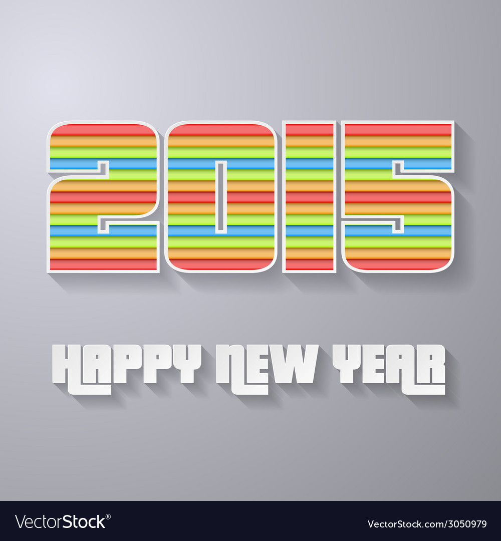 2015 new year abstract backgroung layered paper vector | Price: 1 Credit (USD $1)