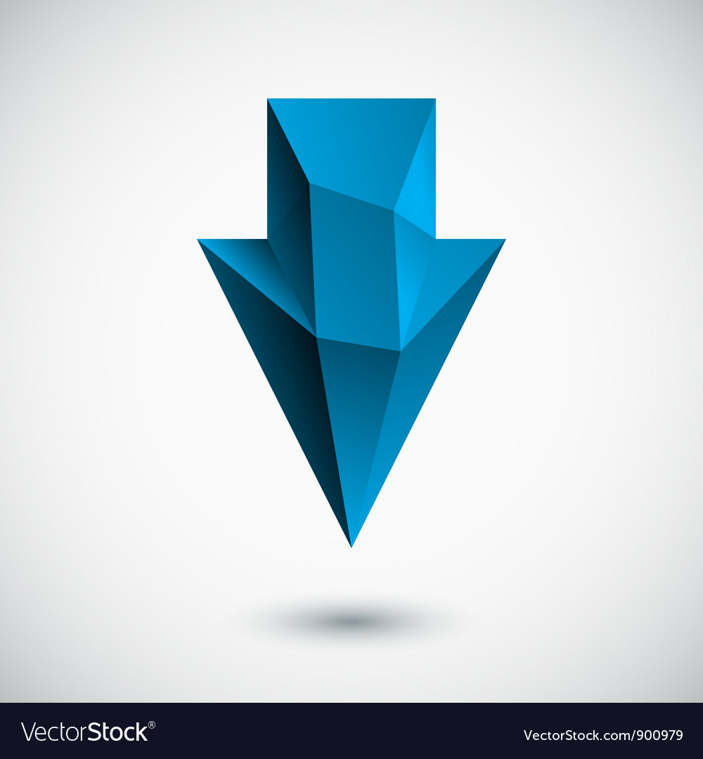 3d cyan down arrow with light background vector | Price: 1 Credit (USD $1)