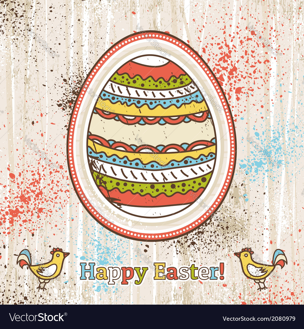 Background with one easter egg and text vector | Price: 1 Credit (USD $1)