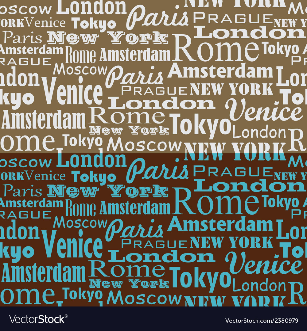 City name text pattern 1 vector | Price: 1 Credit (USD $1)