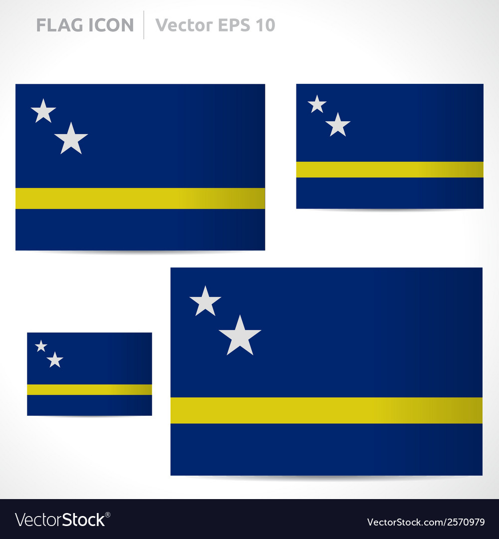 Curacao flag template vector | Price: 1 Credit (USD $1)