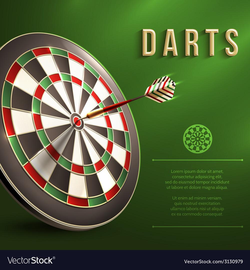 Darts board background vector | Price: 1 Credit (USD $1)