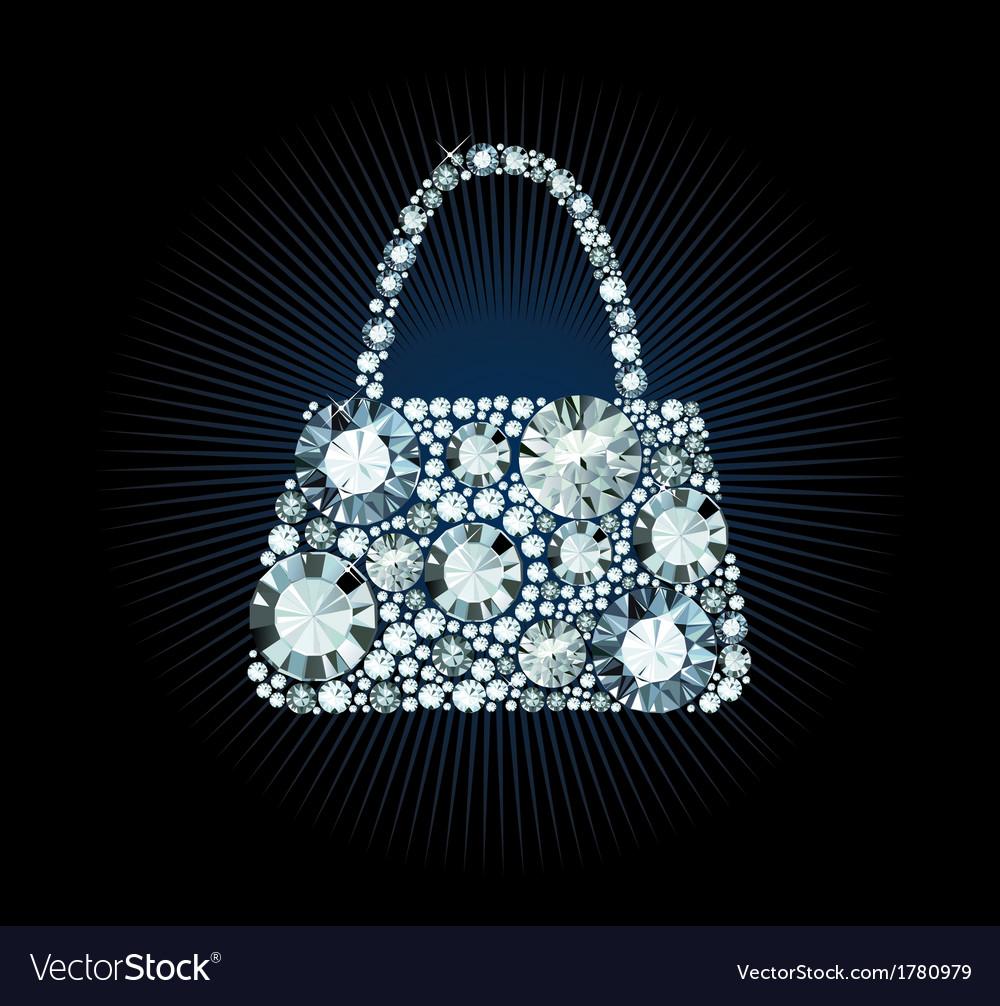 Diamond handbag vector | Price: 1 Credit (USD $1)