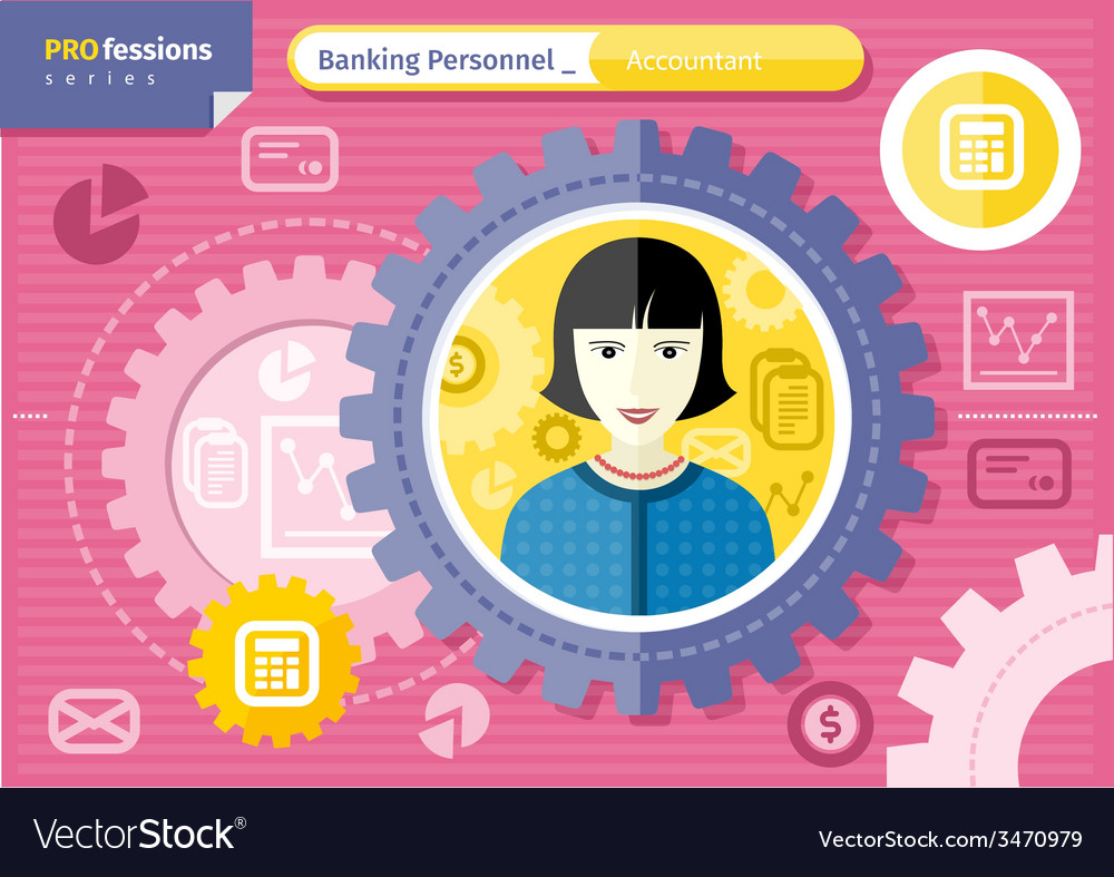 Female accountant profession concept vector | Price: 1 Credit (USD $1)