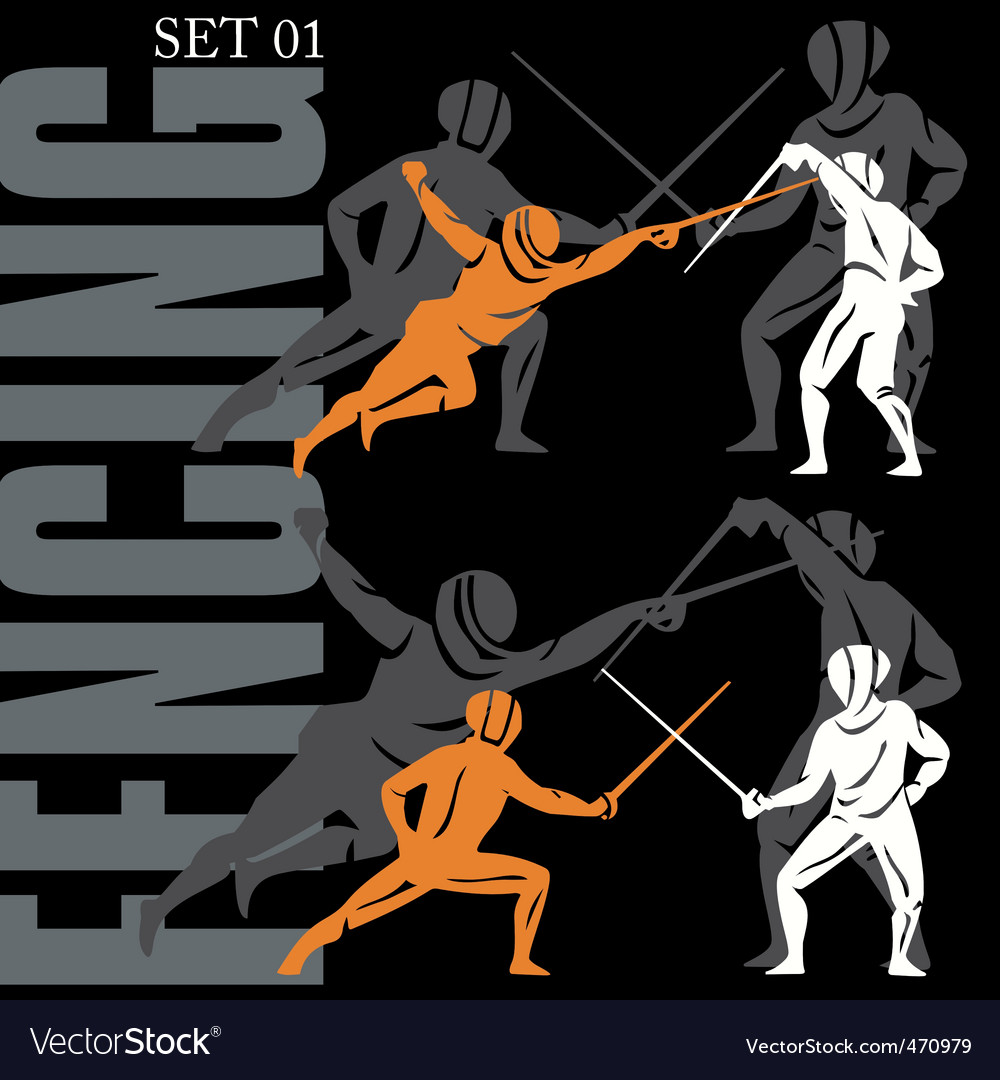 Fencing set vector | Price: 1 Credit (USD $1)