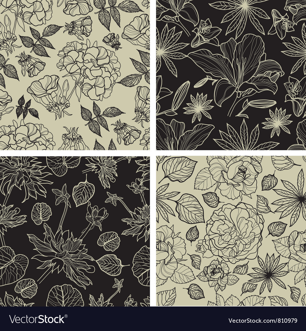 Flower thai seamless vector | Price: 1 Credit (USD $1)