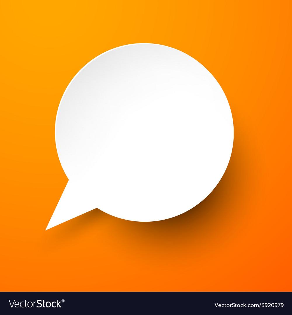 Paper white speech bubble vector | Price: 1 Credit (USD $1)