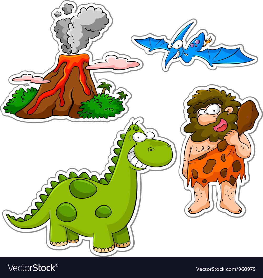 Prehistoric cartoons vector | Price: 3 Credit (USD $3)