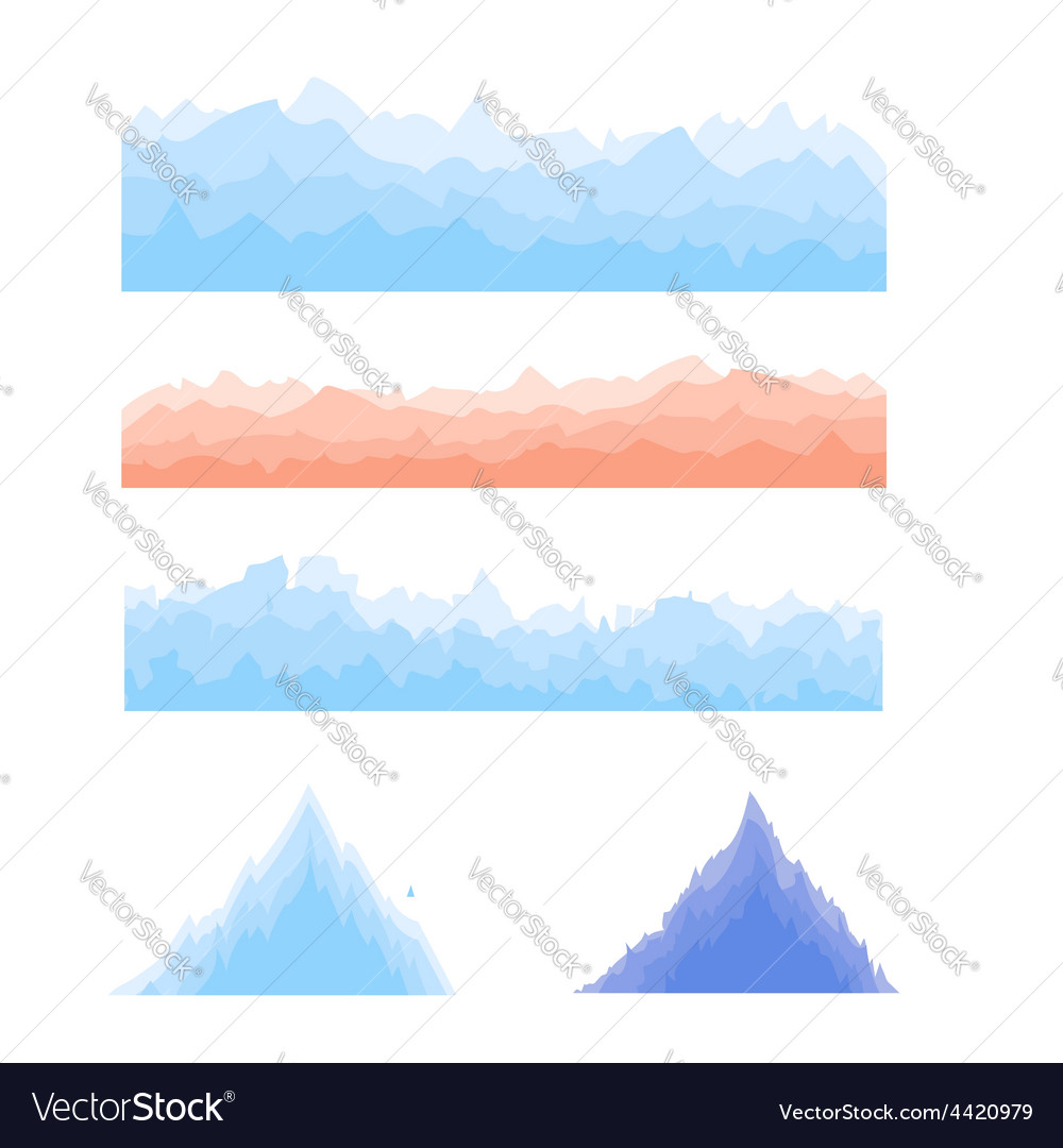 Silhouettes of mountains vector | Price: 1 Credit (USD $1)