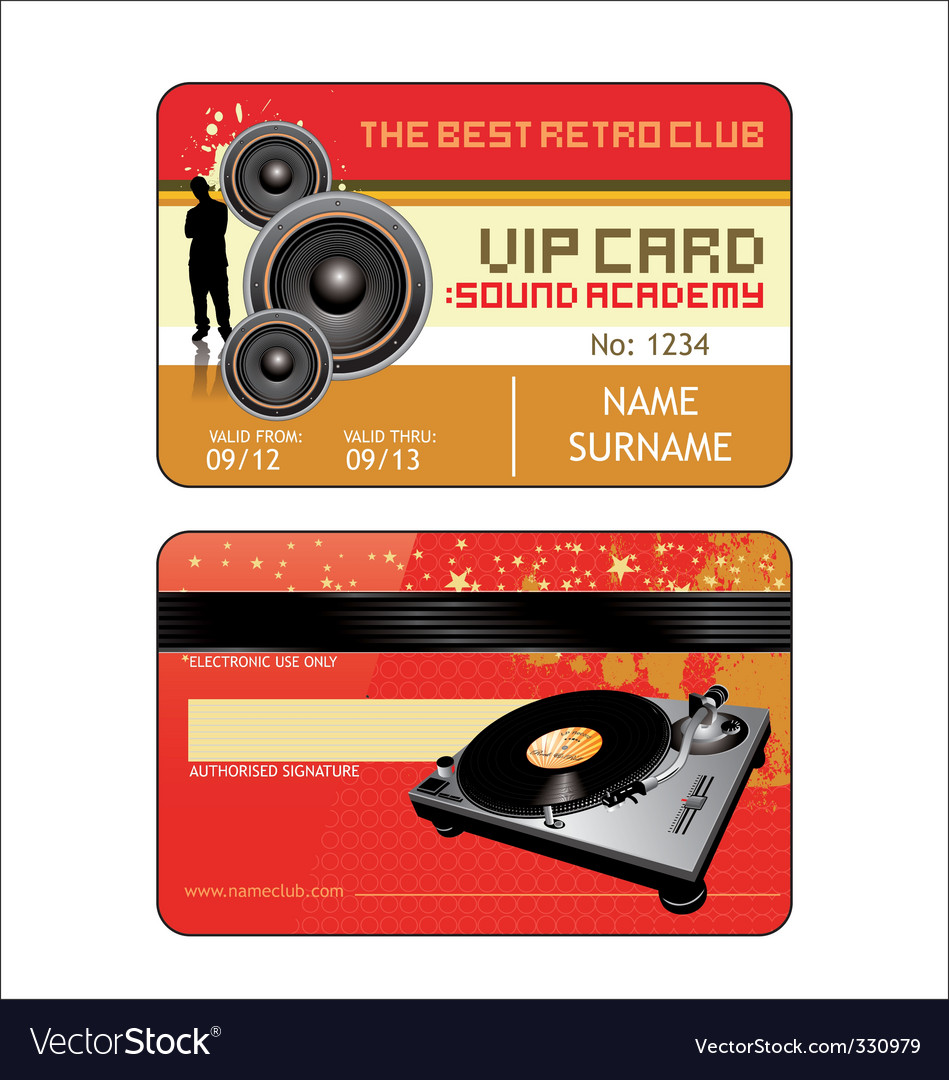 Vip house club card vector | Price: 1 Credit (USD $1)