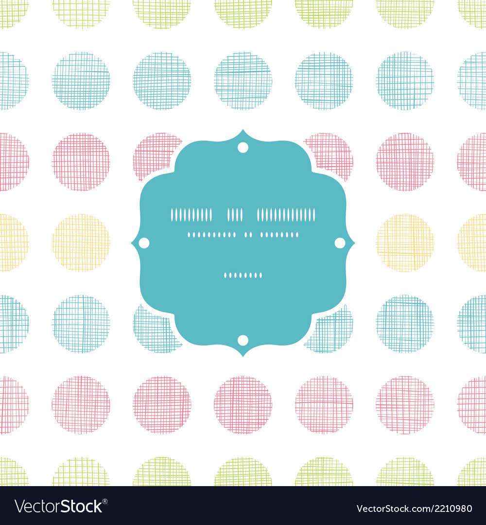 Abstract textile polka dots stripes frame seamless vector | Price: 1 Credit (USD $1)