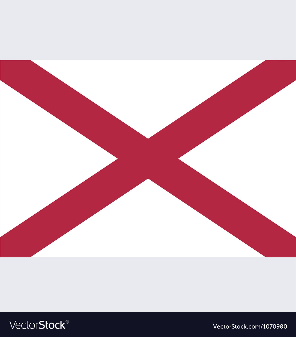 Alabaman state flag vector | Price: 1 Credit (USD $1)