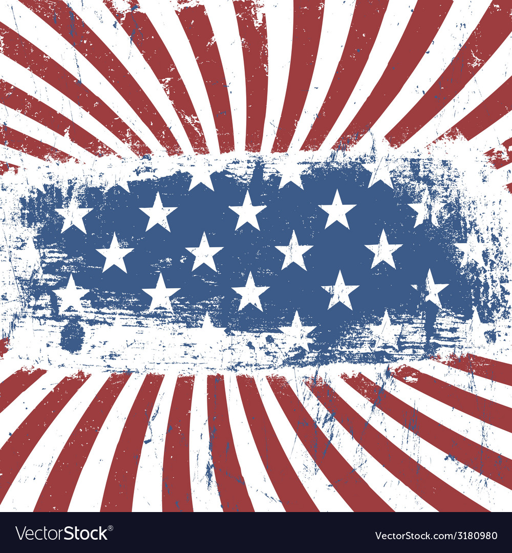 American flag background vintage abstract vector | Price: 1 Credit (USD $1)