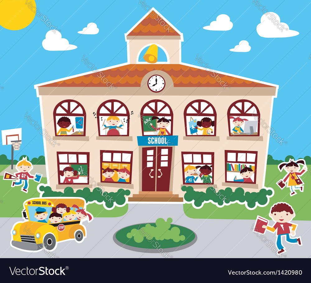 Back to school concept background vector | Price: 3 Credit (USD $3)