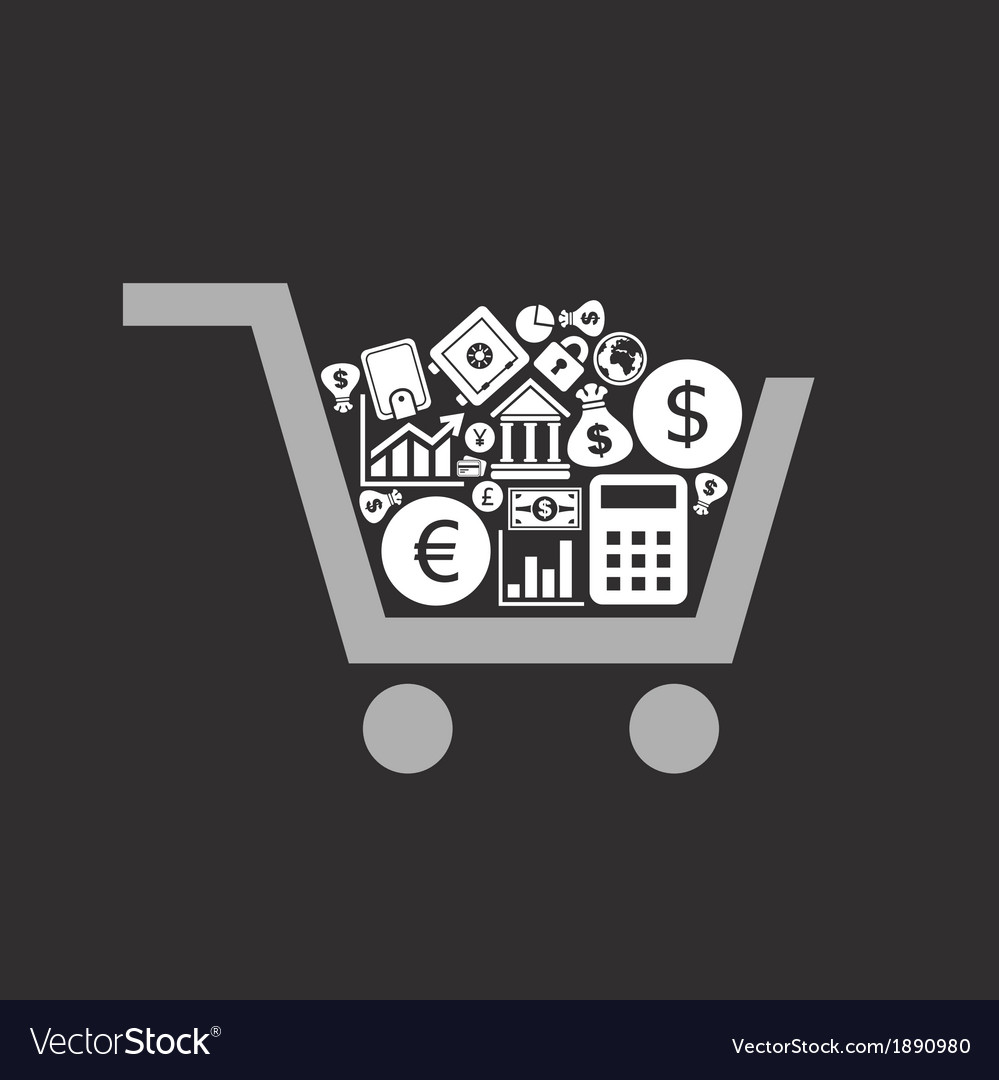Business a cart vector | Price: 1 Credit (USD $1)