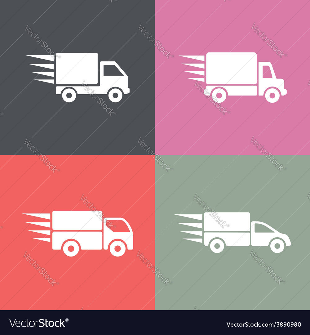 Delivery trucks vector | Price: 1 Credit (USD $1)
