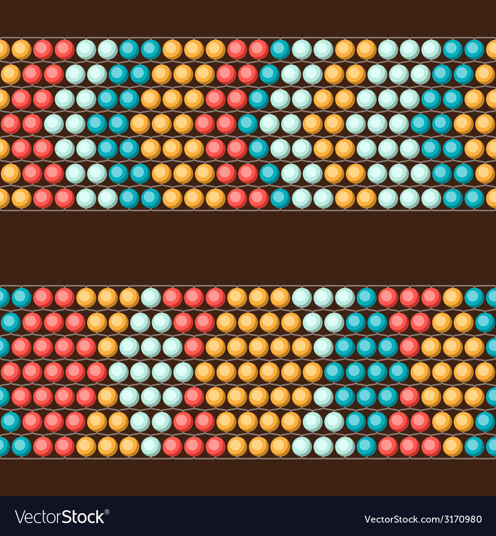 Ethnic african beads abstract color seamless vector | Price: 1 Credit (USD $1)