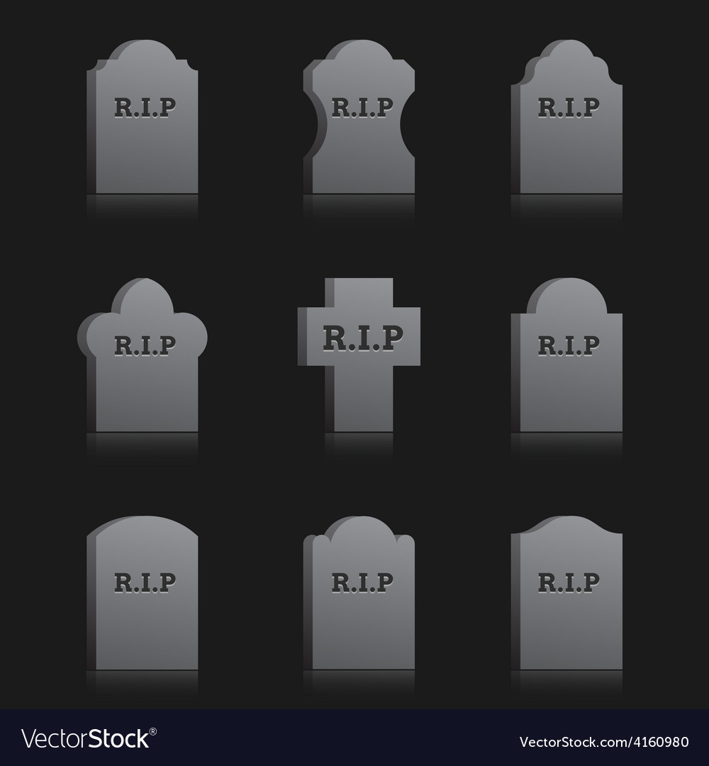 Gravestones with rip vector | Price: 1 Credit (USD $1)