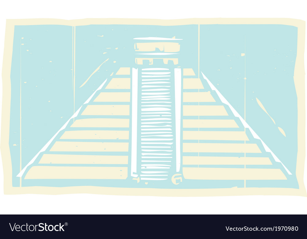 Mayan pyramid codex vector | Price: 1 Credit (USD $1)