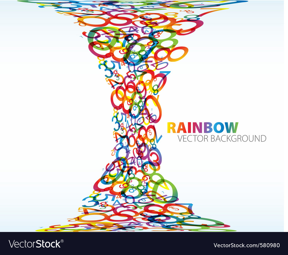 Number rainbow vector | Price: 1 Credit (USD $1)