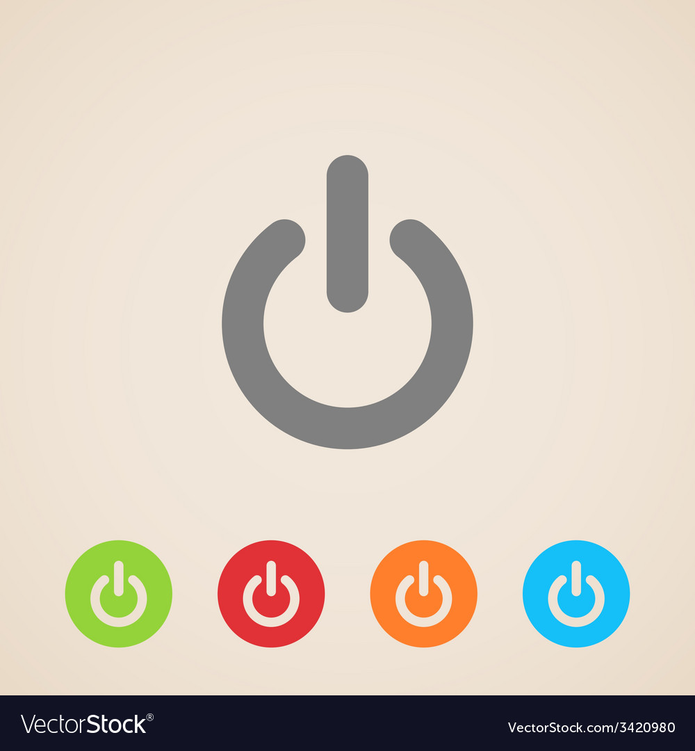 Power icons vector | Price: 1 Credit (USD $1)