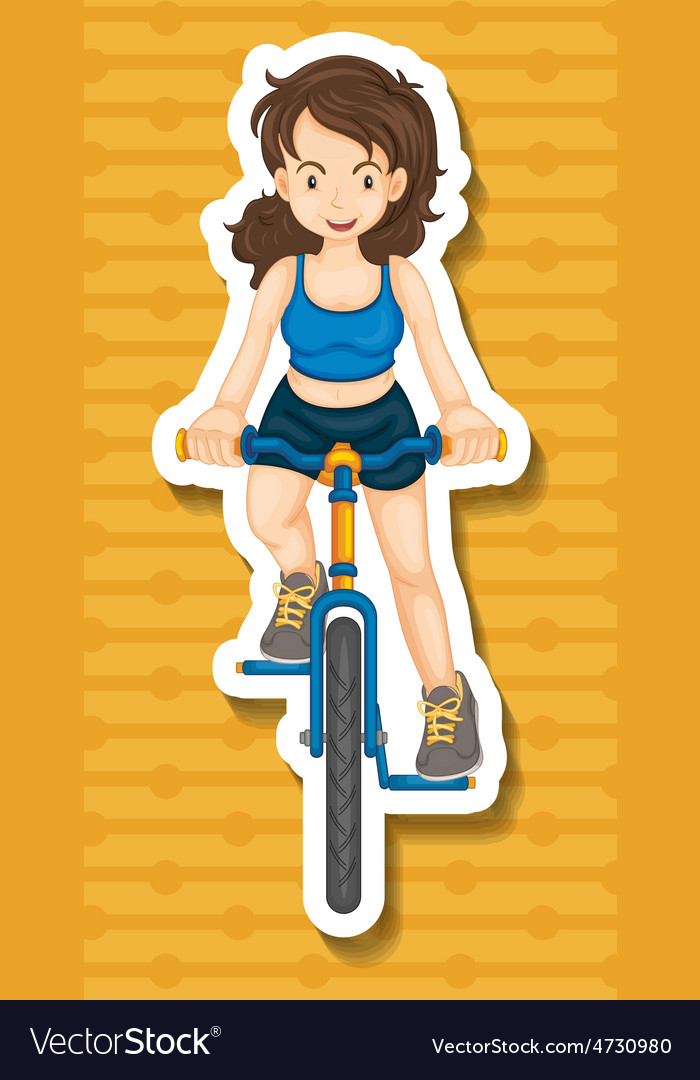 Riding bike vector | Price: 1 Credit (USD $1)
