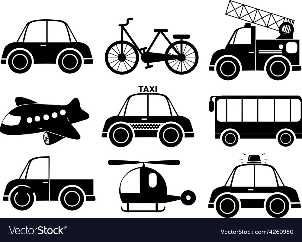 Set of transport vehicles vector | Price: 1 Credit (USD $1)