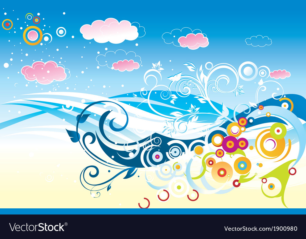 Sky background vector | Price: 1 Credit (USD $1)