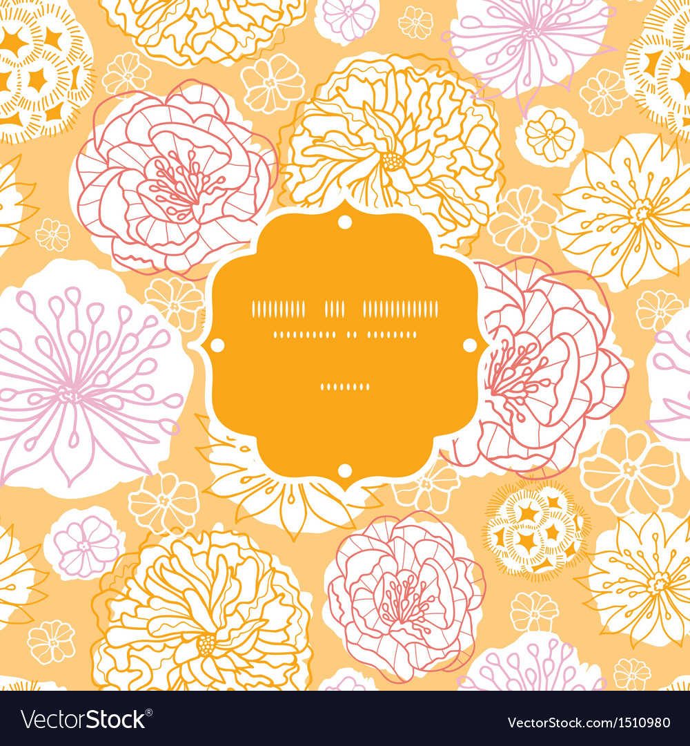 Warm day flowers frame seamless pattern background vector | Price: 1 Credit (USD $1)