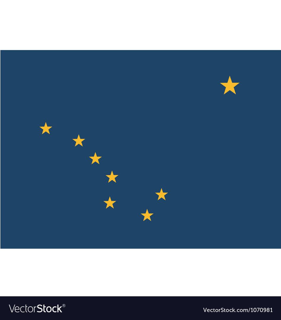 Alaskan state flag vector   Price: 1 Credit (USD $1)