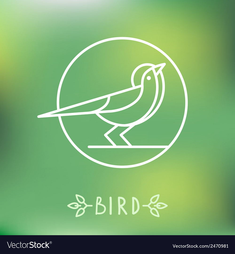 Bird icon in outline style vector | Price: 1 Credit (USD $1)