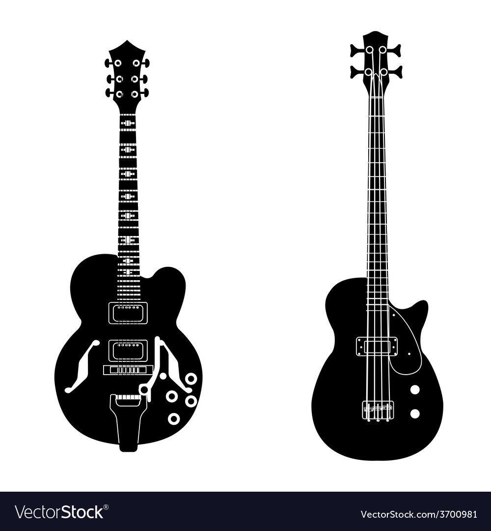 Bw guitar set vector | Price: 1 Credit (USD $1)
